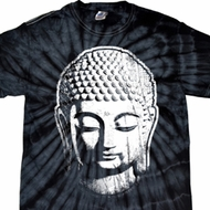 Mens Yoga Shirt Big Buddha Head Spider Tie Dye Tee T-shirt