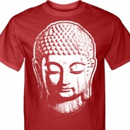 Mens Yoga Shirt Big Buddha Head Tall Tee T-Shirt