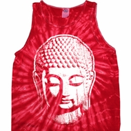 Mens Yoga Shirt Big Buddha Head Tank Tie Dye Tee T-shirt