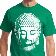 Mens Yoga Shirt Big Buddha Head Tee T-Shirt