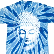 Mens Yoga Shirt Big Buddha Head Twist Tie Dye Tee T-shirt