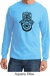 Mens Yoga Shirt Black Hamsa Long Sleeve Tee T-Shirt