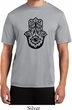 Mens Yoga Shirt Black Hamsa Moisture Wicking Tee