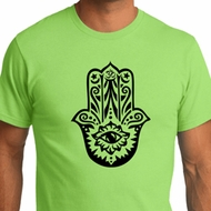 Mens Yoga Shirt Black Hamsa Organic Tee T-Shirt
