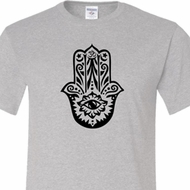 Mens Yoga Shirt Black Hamsa Tall Tee T-Shirt