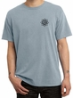 Mens Yoga Shirt Black Lotus OM Patch Pocket Print Pigment Dyed T-Shirt