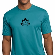 Mens Yoga Shirt Black Namaste Lotus Moisture Wicking Tee T-Shirt