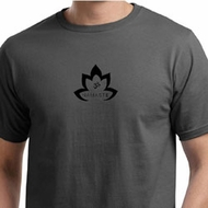Mens Yoga Shirt Black Namaste Lotus Organic Tee T-Shirt