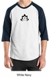 Mens Yoga Shirt Black Namaste Lotus Raglan Tee T-Shirt