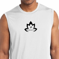 Mens Yoga Shirt Black Namaste Lotus Sleeveless Moisture Wicking Tee