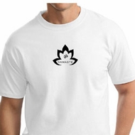Mens Yoga Shirt Black Namaste Lotus Tall Tee T-Shirt