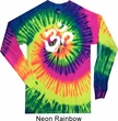 Mens Yoga Shirt Brushstroke Aum Long Sleeve Tie Dye Tee T-shirt