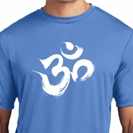 Mens Yoga Shirt Brushstroke Aum Moisture Wicking Tee T-Shirt