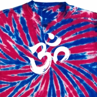 Mens Yoga Shirt Brushstroke Aum Patriotic Tie Dye Tee T-shirt