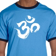 Mens Yoga Shirt Brushstroke Aum Ringer Tee T-Shirt