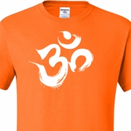 Mens Yoga Shirt Brushstroke Aum Tall Tee T-Shirt