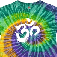 Mens Yoga Shirt Brushstroke Aum Tie Dye Tee T-shirt