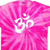 Mens Yoga Shirt Brushstroke Aum Twist Tie Dye Tee T-shirt