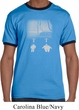 Mens Yoga Shirt Choices Carolina Blue/Navy Ringer Tee T-Shirt
