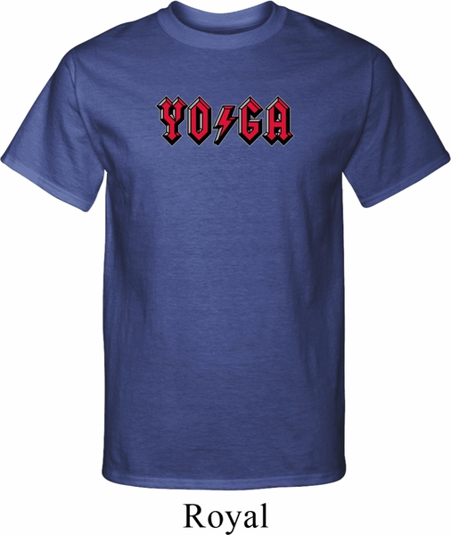 Mens yoga shirt classic rock yoga tall tee t shirt for Big and tall rock t shirts