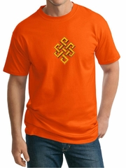 Mens Yoga Shirt Endless Knot Tall Tee T-Shirt
