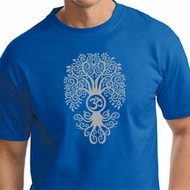 Mens Yoga Shirt Grey Bodhi Tree Tall Tee T-Shirt