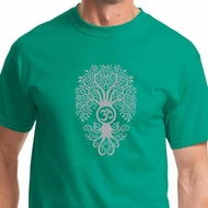 Mens Yoga Shirt Grey Bodhi Tree Tee T-Shirt