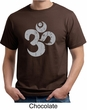 Mens Yoga Shirt Grey Distressed OM Organic Tee T-Shirt