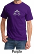 Mens Yoga Shirt Grey Namaste Lotus Tee T-Shirt