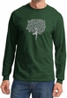 Mens Yoga Shirt Grey Tree Pose Long Sleeve Tee T-Shirt