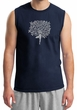 Mens Yoga Shirt Grey Tree Pose Muscle Tee T-Shirt