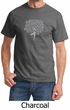 Mens Yoga Shirt Grey Tree Pose Tee T-Shirt