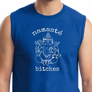 Mens Yoga Shirt Namaste Bitches Muscle Tee T-Shirt