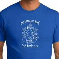 Mens Yoga Shirt Namaste Bitches Organic Tee T-Shirt