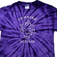 Mens Yoga Shirt Namaste Bitches Spider Tie Dye Tee T-shirt