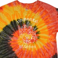 Mens Yoga Shirt Namaste Bitches Tie Dye Tee T-shirt