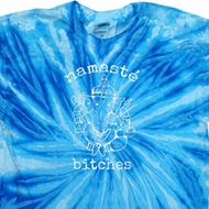Mens Yoga Shirt Namaste Bitches Twist Tie Dye Tee T-shirt