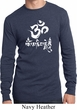 Mens Yoga Shirt OM Mani Padme Hum Long Sleeve Thermal Tee T-Shirt