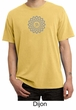 Mens Yoga Shirt Sahasrara Chakra Meditation Pigment Dyed T-shirt