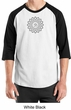 Mens Yoga Shirt Sahasrara Chakra Meditation Raglan Shirt