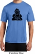 Mens Yoga Shirt Shadow Buddha Moisture Wicking Tee T-Shirt