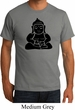 Mens Yoga Shirt Shadow Buddha Organic Tee T-Shirt