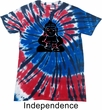 Mens Yoga Shirt Shadow Buddha Patriotic Tie Dye Tee T-shirt