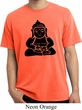 Mens Yoga Shirt Shadow Buddha Pigment Dyed Tee T-Shirt
