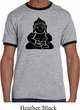 Mens Yoga Shirt Shadow Buddha Ringer Tee T-Shirt