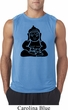 Mens Yoga Shirt Shadow Buddha Sleeveless Tee T-Shirt