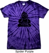 Mens Yoga Shirt Shadow Buddha Spider Tie Dye Tee T-shirt