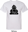 Mens Yoga Shirt Shadow Buddha Tall Tee T-Shirt