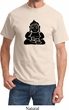 Mens Yoga Shirt Shadow Buddha Tee T-Shirt