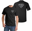 Mens Yoga Shirt Super OM Front and Back Print T-Shirt